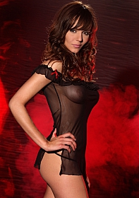 Black Chemise with Thong