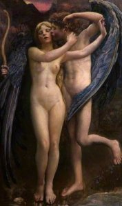 Swynnerton, Annie Louisa; Cupid and Psyche; Gallery Oldham; http://www.artuk.org/artworks/cupid-and-psyche-90902