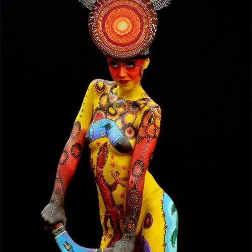 Fantasy body paint