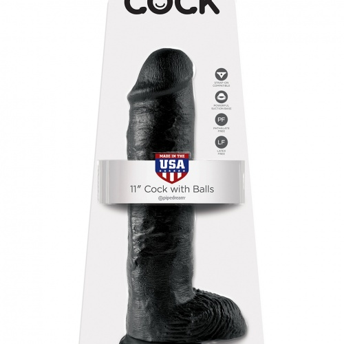 Pipedream Cock 11 inch with balls