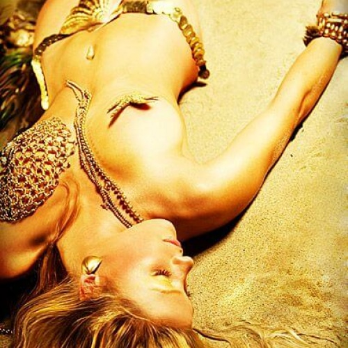 Krisy Cole does Mermaid shoot