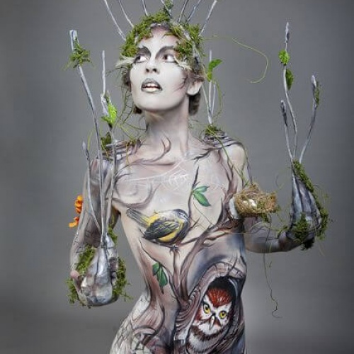 Body art nature women