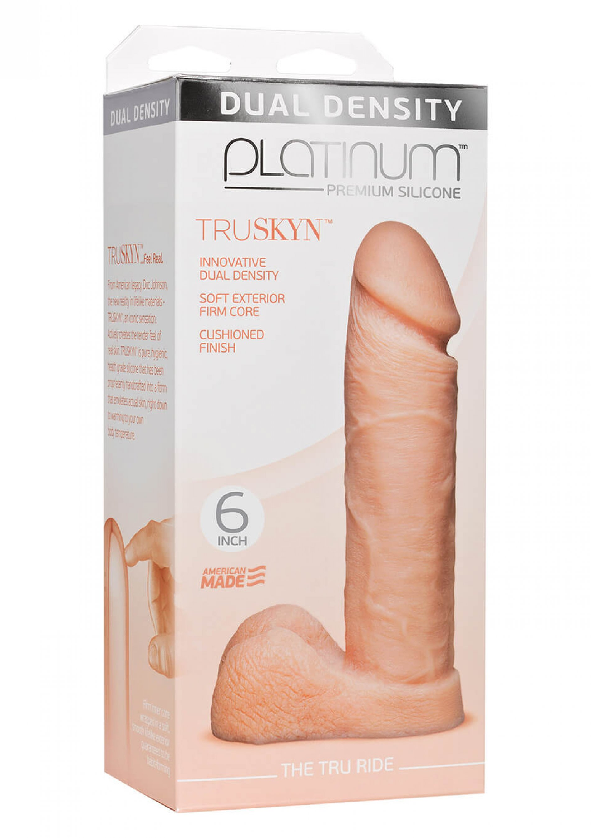 Doc Johnson Platinum the tru ride 6 inch flesh