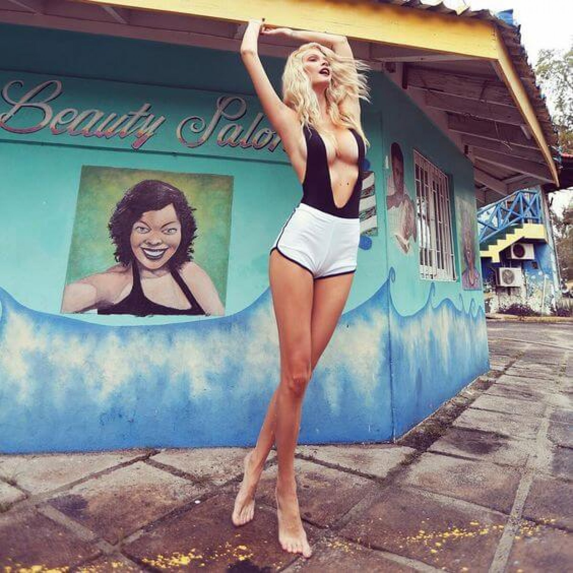 Shooting in Jamaican Rainstorms with Ana Dias and Her Muse Marcelle Mazzini