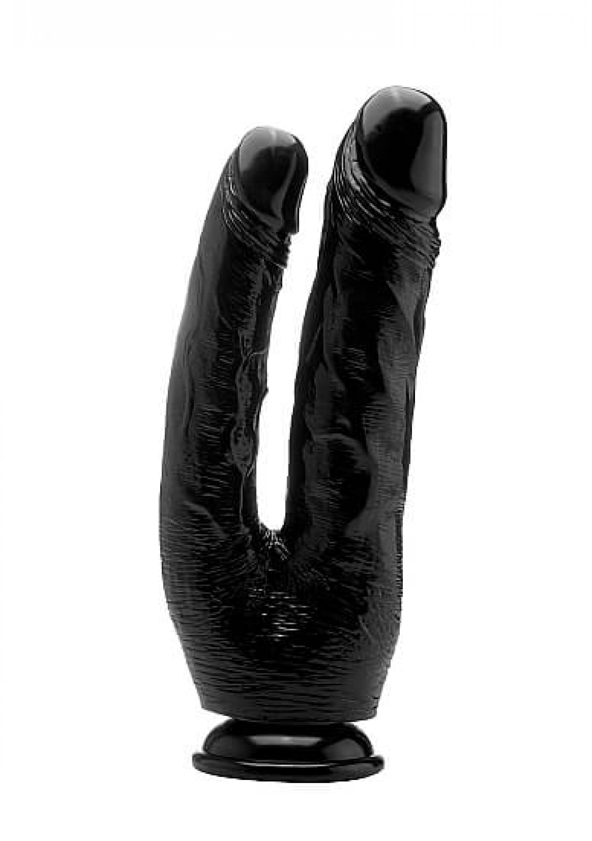 Realrock Realistic Double cock 25.5 cm black