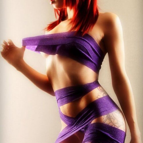 Red in purple