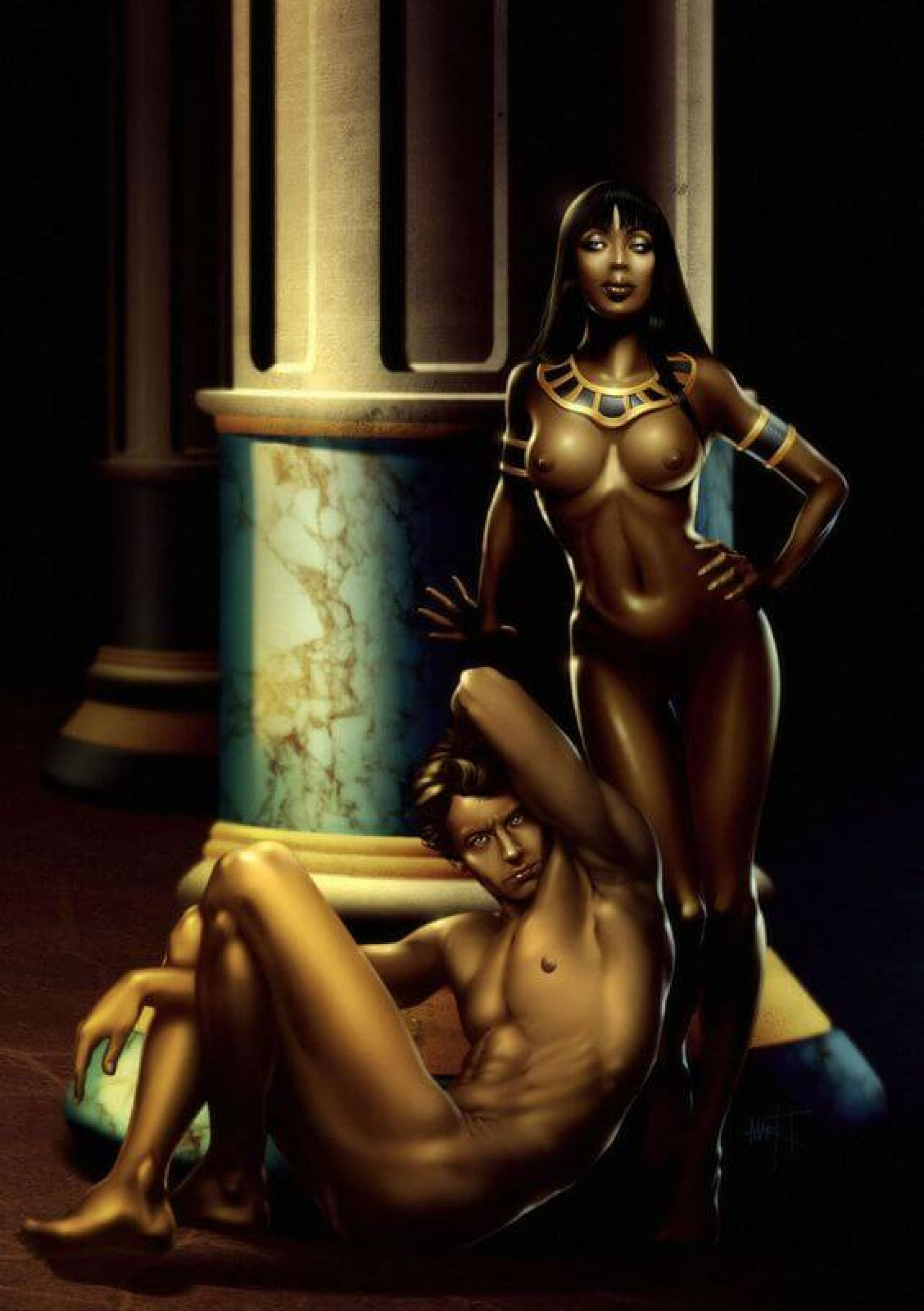 Cleopatra and Anthony by Markovah on DeviantArt