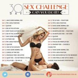 30 dagen seksuele uitdaging. Probeer het als je durft!