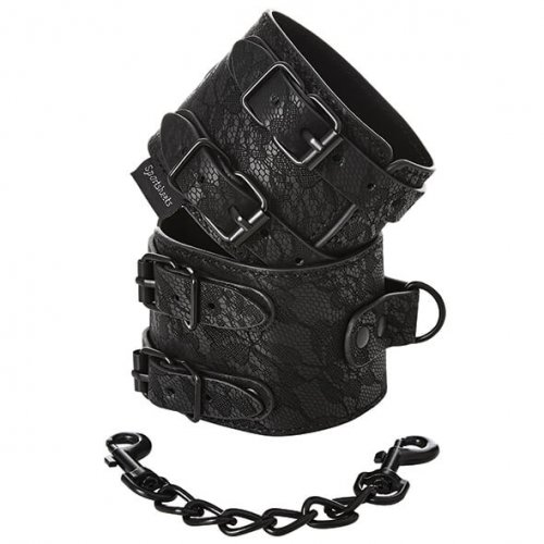 Sportsheets Sincerely lace double strap handcuffs