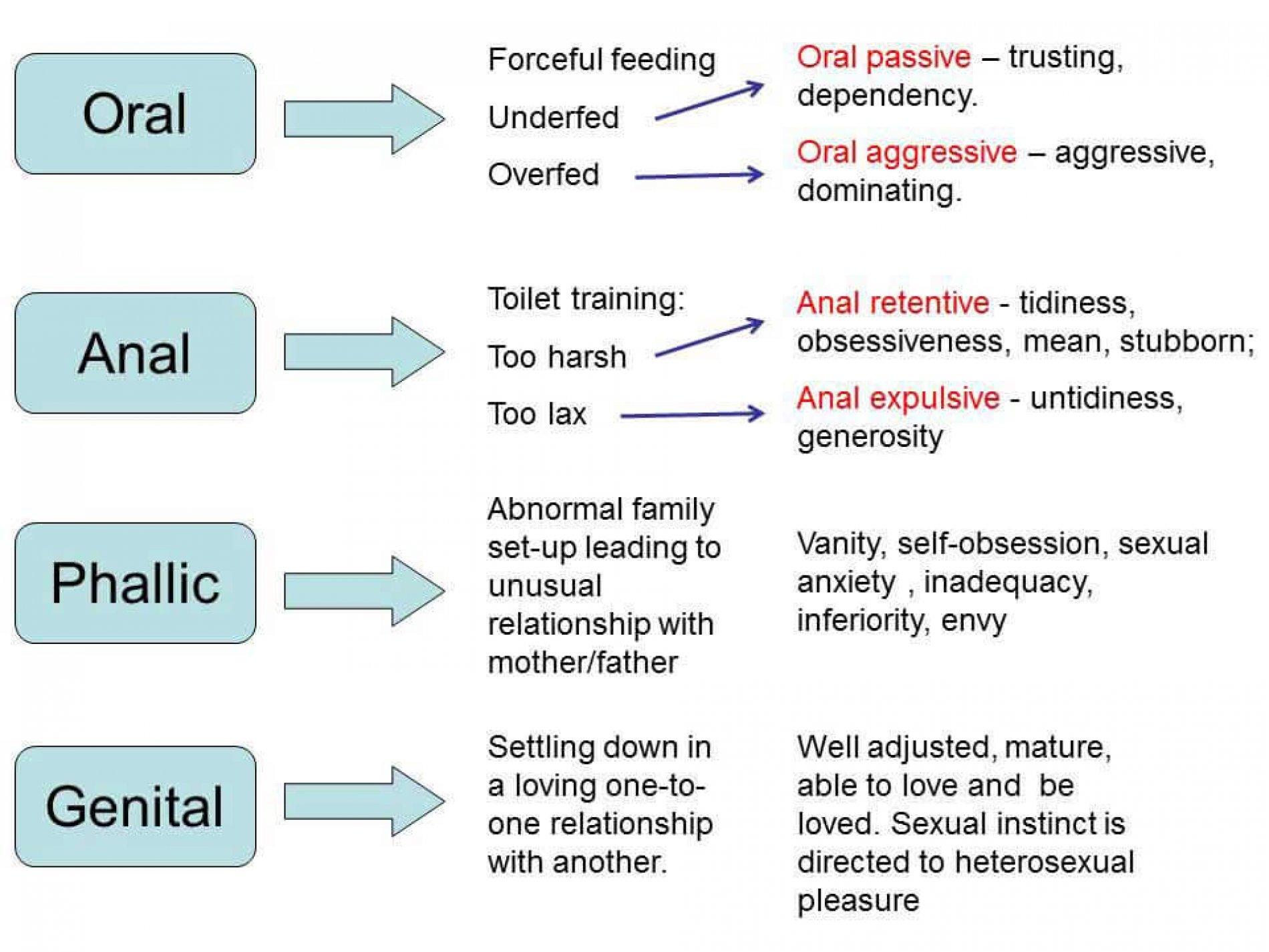 Freud's psychoseksuele ontwikkelingsstadia