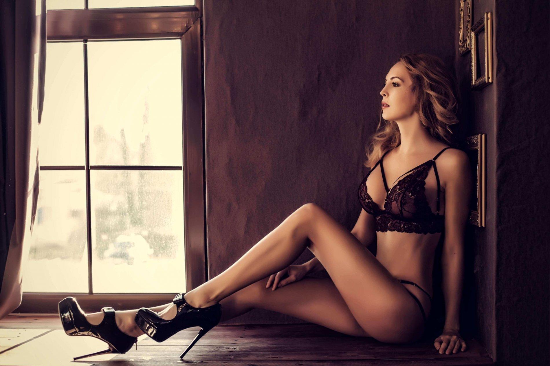 Sensual in heels