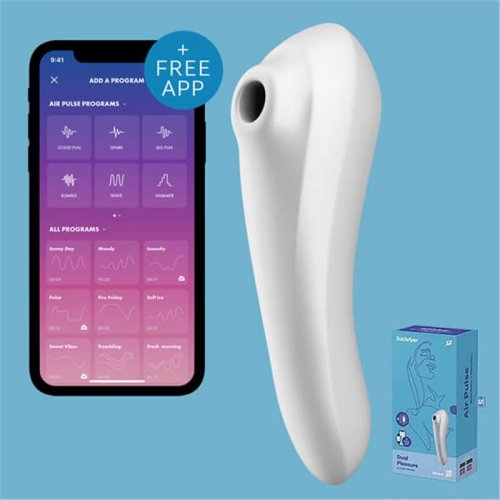 Satisfyer Dual pleasure Air Pulse vibrator white